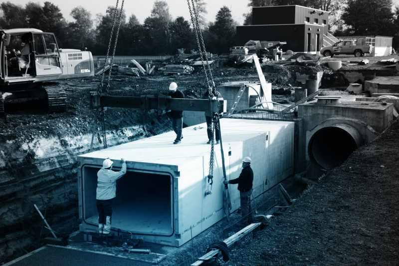 SulserElemente_Abwasserkanäle_Hochwasserentlastung Tiefriet, Sargans